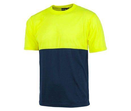 camiseta amarilla tacto algodón