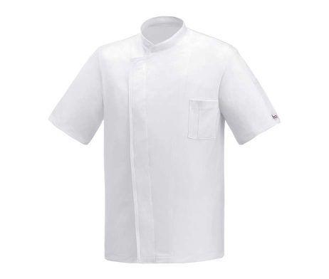 casaca cocinero traspirable muy fresca blanca manga corta