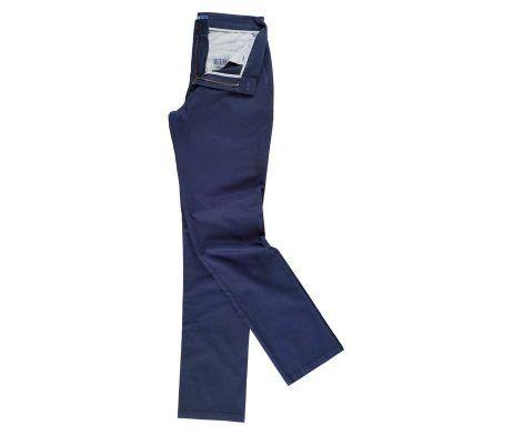 pantalón chino mujer azul marino