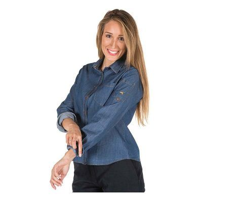 camisa vaquera mujer manga larga tejana señora