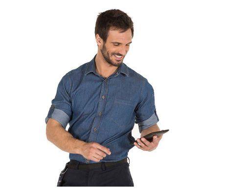 camisa vaquera hombre uso laboral