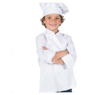 casaca cocinero infantil niños y niñas blanco