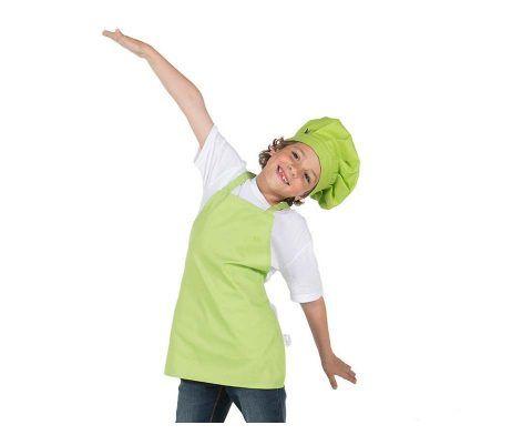 delantal con peto infantil verde pistacho