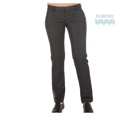 pantalón elástico de trabajo gris camarera