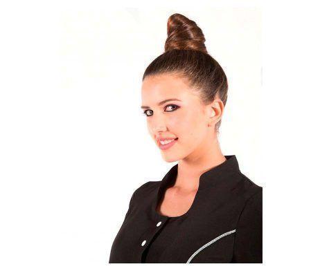 tunica de peluquería antimanchas resistente al tinte y decoloración negra