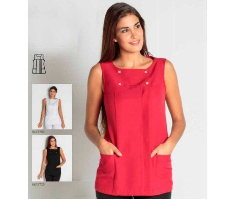 chaqueta mujer centro estetica uniforme comercio