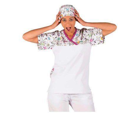 casaca diseño divertido y original sanitaria cuello pico