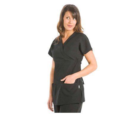 casaca mujer negra chaqueta dyneke peluqueria opticas farmacias