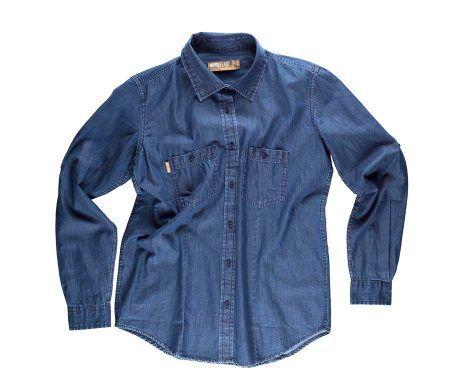 camisa vaquera laboral entallada de mujer