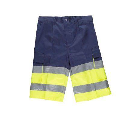 pantalón corto bermuda reflectante alta visibilidad