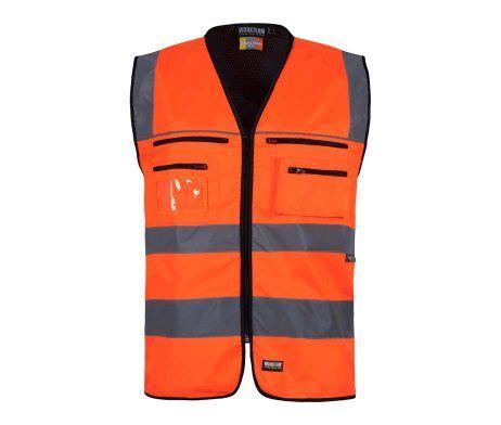 chaleco reflectante naranja alta visibilidad industria