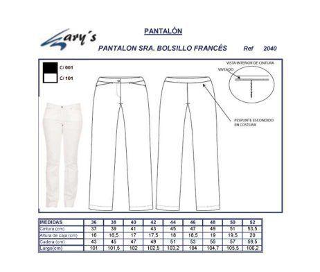 pantalón uniforme trabajo