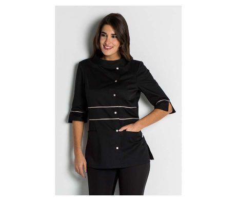 chaqueta mujer negra spas y balnearios