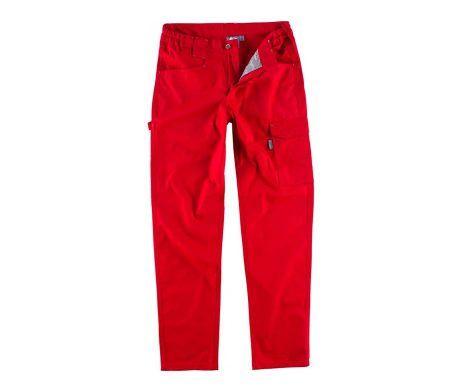 pantalon trabajo rojo industria construcción