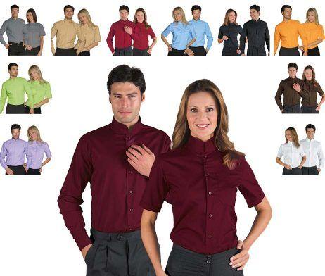 camisa camarero cuello mao