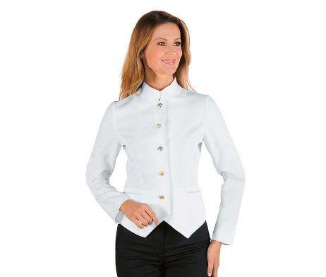 casaca coreana sin galones blanca mujer