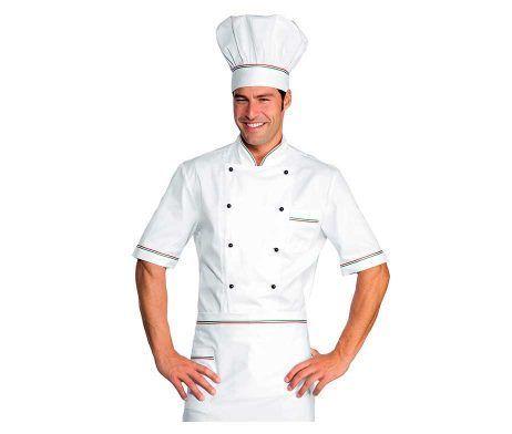 casaca cocinero manga corta
