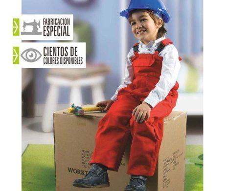peto laboral colores para niños