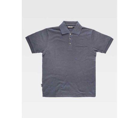 Polo de manga corta y un bolso de pecho, algodón 100% color gris barato