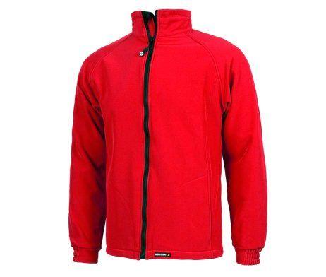 chaqueta para el frío color rojo