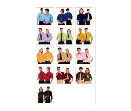camisa de trabajo para hombre y mujer camareros