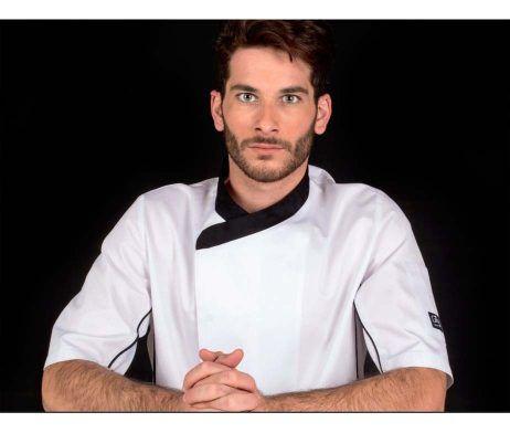 chaqueta chaquetilla cocinero hombre manga corta fresca