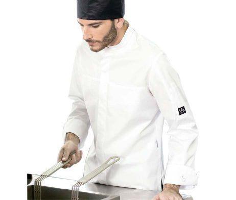 casaca de cocinero hombre manga larga