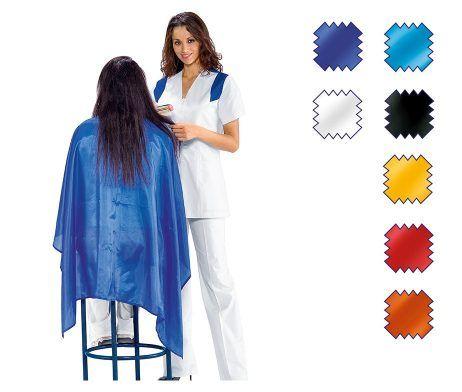 capa peinador de peluquería para clientas de poliester