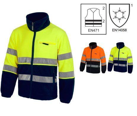 chaqueta polar alta visibilidad reflectante amarillo naranjan laboral