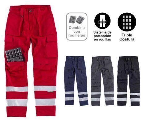 Pantalón multibolsillos reflectante