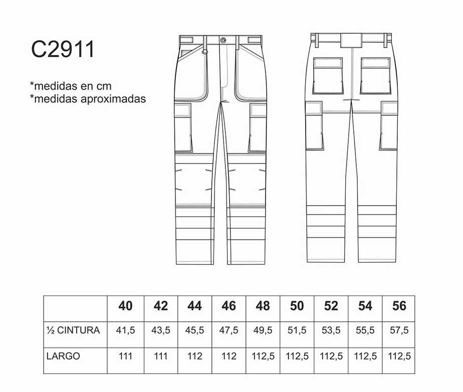 e540e6598b7 Pantalón de trabajo multibolsillos con cintas reflectantes. WorkTeam