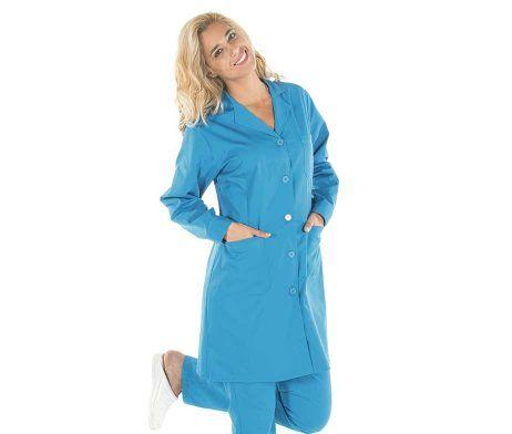 bata sanitaria clasica colores chica ropa laboral botones