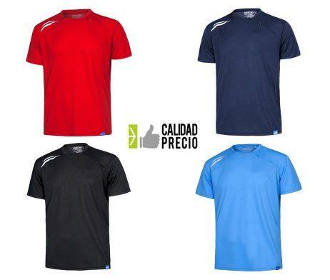 Camiseta técnica deportiva industria bolsillo 100 poliester