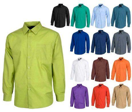 camisa de hombre manga larga de trabajo uso laboral