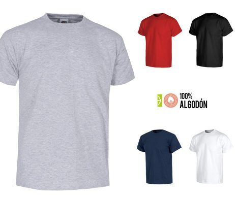 Camiseta barata de trabajo industria manga corta algodón