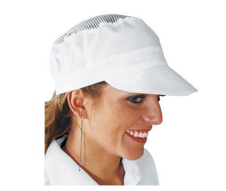 gorra de rejilla blanca cocinera heladeria