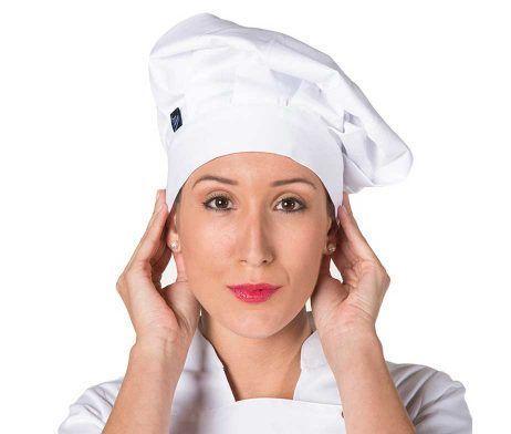 gorro blanco hombre y mujer cocineros