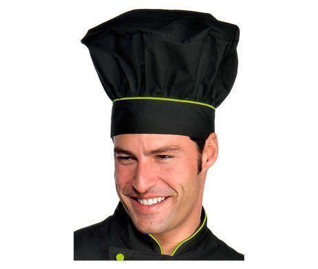 gorro cocinero Chicote negro para trabajar