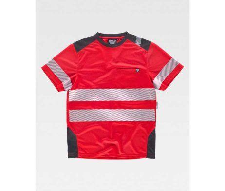camiseta reflectante roja para trabajar