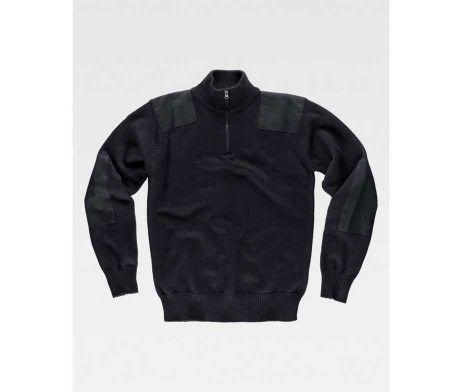 jersey-s5502-100-algodon-de-cuello-alto-workteam-cremallera-hombre-punto