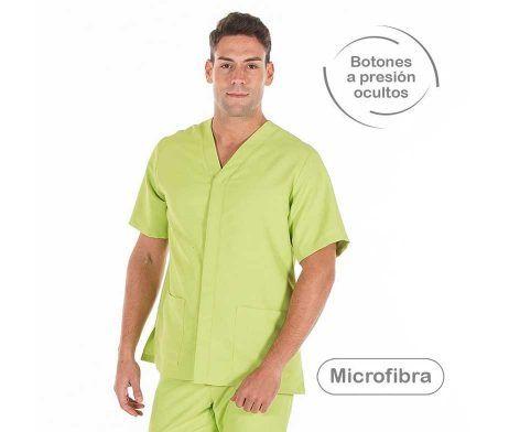 uniformes peluqueria barbero antimanchas microfibra