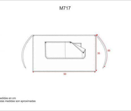 DELANTAL M717 CORTO EN TEJIDO VAQUERO COMBINADO CON CANVAS. WORKTEAM