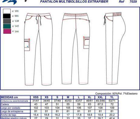 pantalón sanitario bolsillos