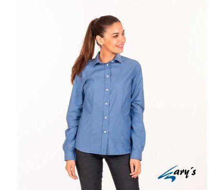 Camisa de mujer camarera en manga larga Oxford GARYS 2884