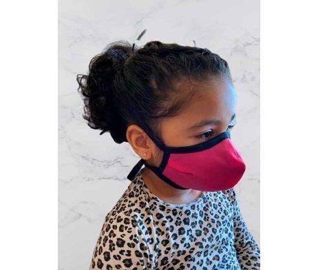 mascarilla infantil niña color rosa