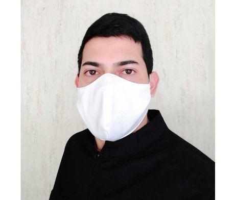 mascarilla blanca lavable reutilizable covid-19