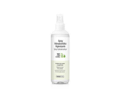 Spray higienizante hidroalcohólico 250ml 70% Alcohol. Con Aloe Vera.
