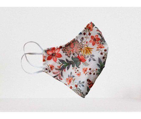 Mascarilla textil doble capa con estampado
