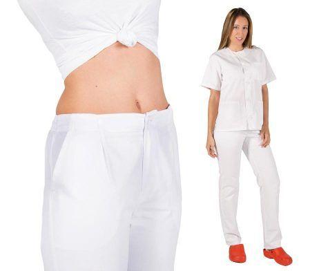 Uniforme de trabajo blanco enfermero enfermera sanitario