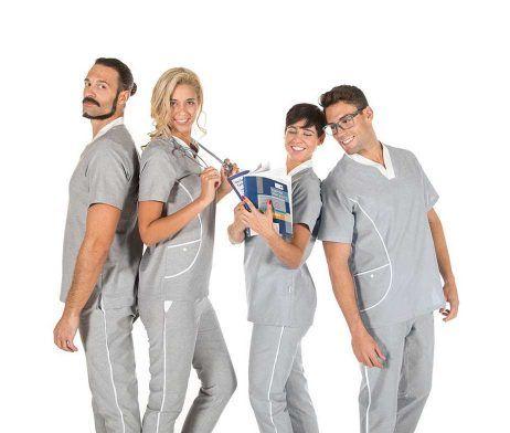 pijama sanitario gris